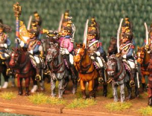 15mm, Napoleonic French Cuirassier Pink Facings AB 12 fig